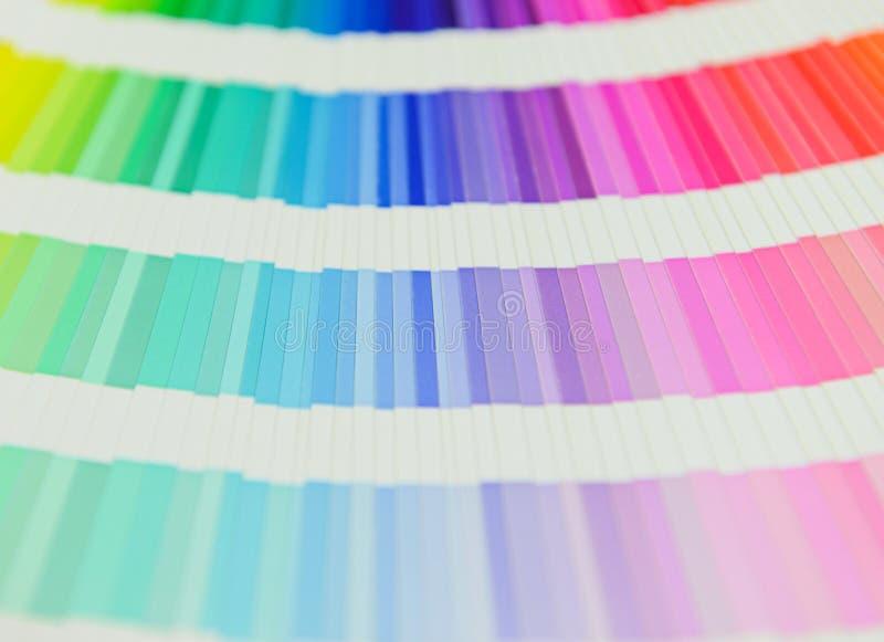 Härlig färgprovkartabok fotografering för bildbyråer