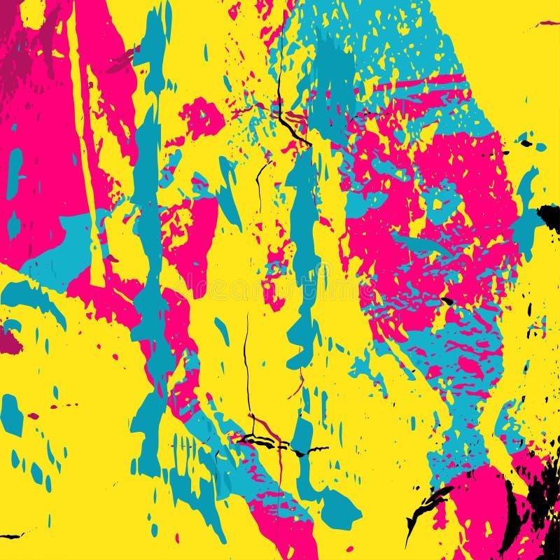 Härlig färgrik abstrakt illustration för grafittipolygonvektor vektor illustrationer