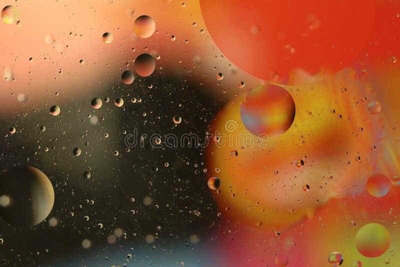 Härlig färgrik bakgrund av olja och vatten royaltyfri foto