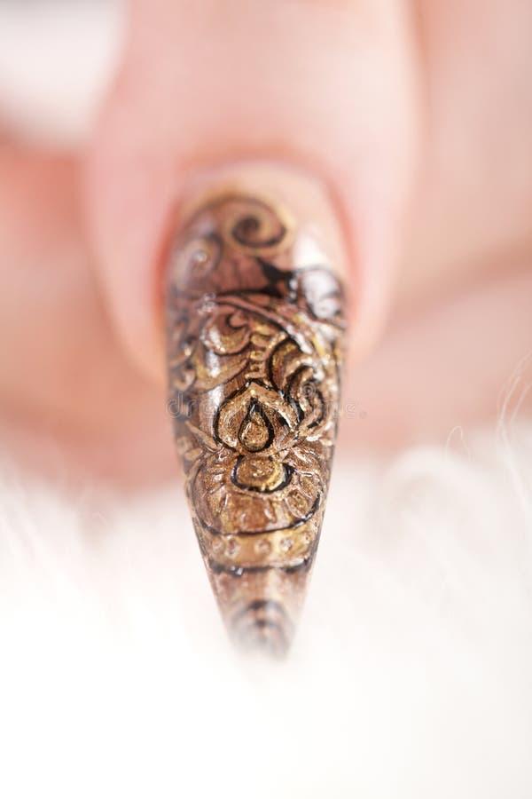 härlig fingerfingernailhuman arkivbild