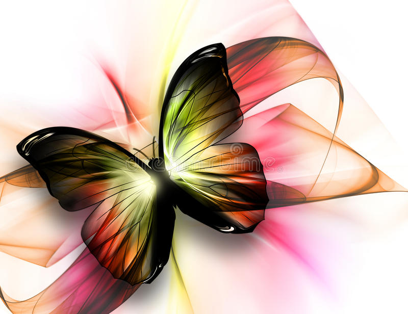 härlig fjäril royaltyfri illustrationer