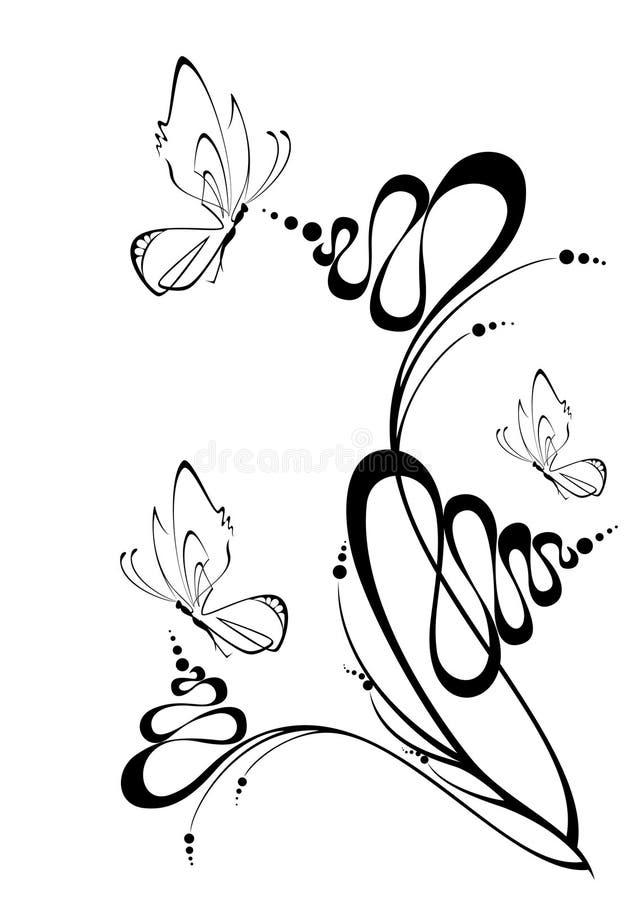 härlig fjäril stock illustrationer
