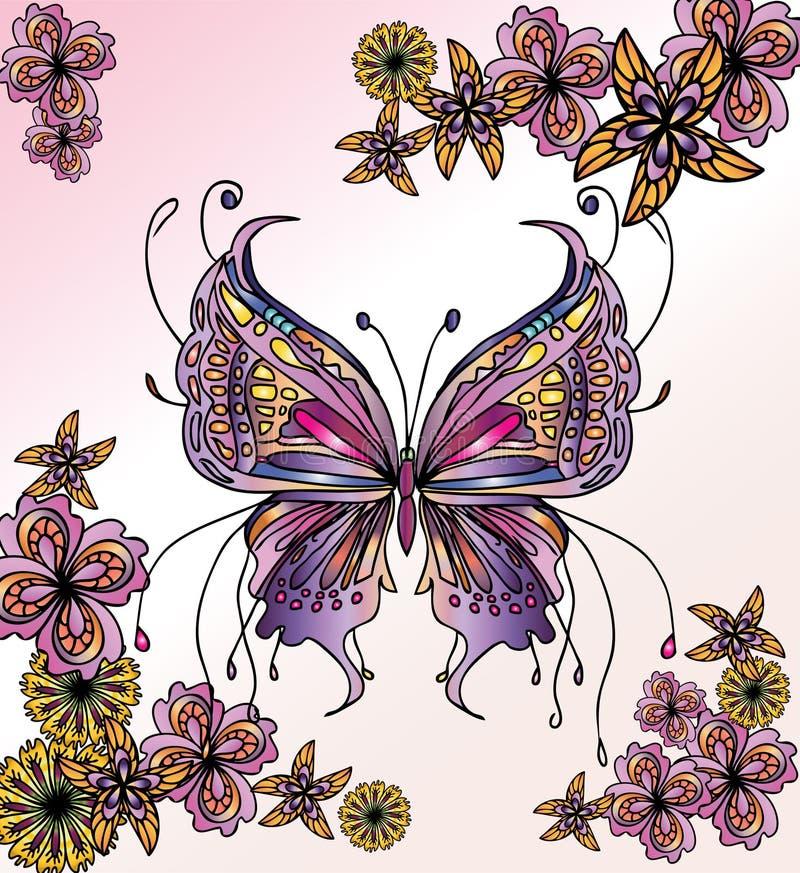 härlig fjärilsbild vektor illustrationer
