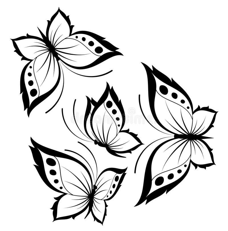härlig fjärilsdesign royaltyfri illustrationer