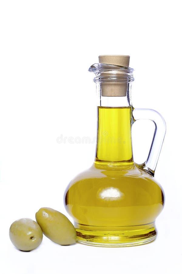 härlig flaska klädde oljeolivgrönkryddor royaltyfria foton