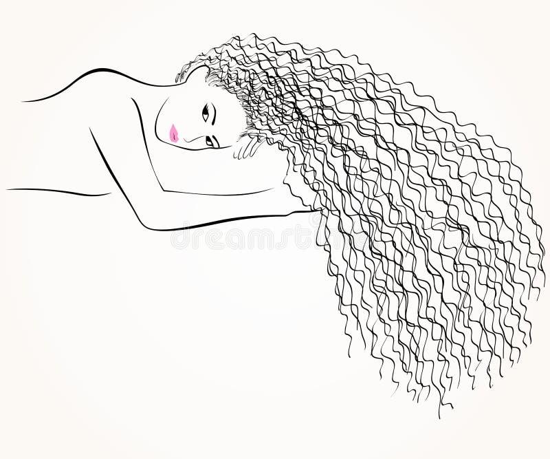 härlig flicka vektor illustrationer