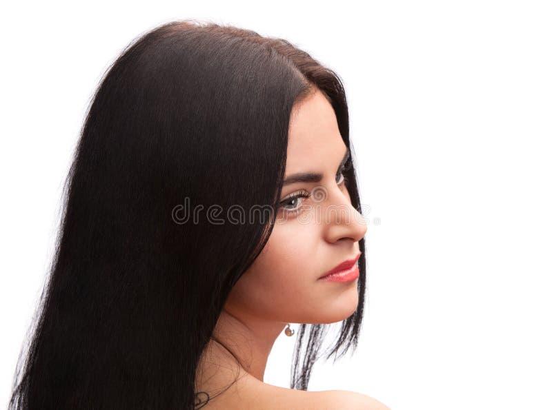 Härlig flicka för brunett arkivbilder