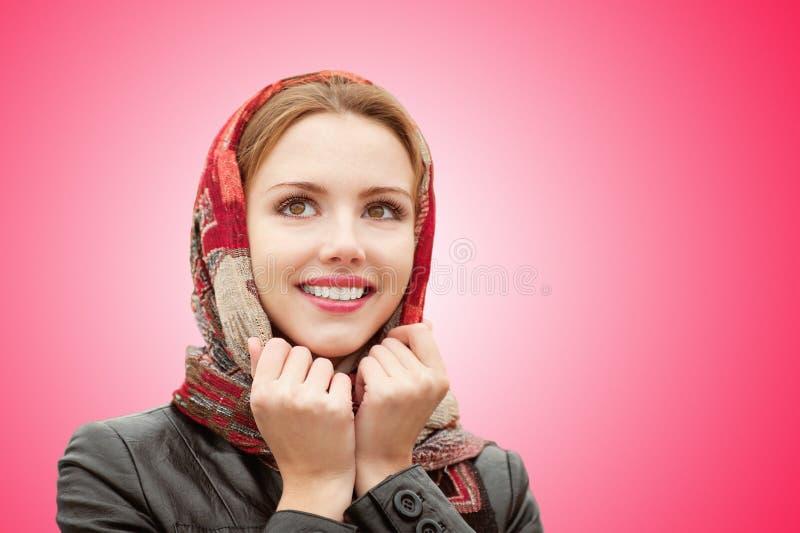 härlig flicka för höst royaltyfri foto