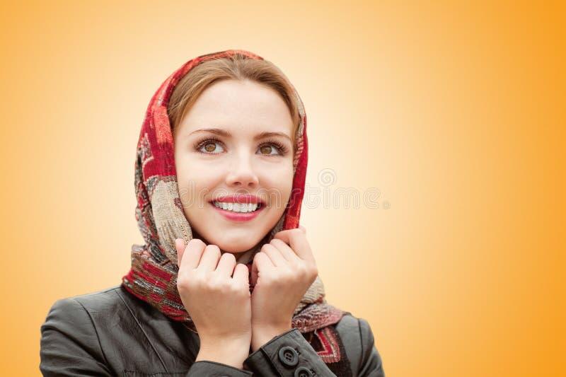 härlig flicka för höst royaltyfri fotografi