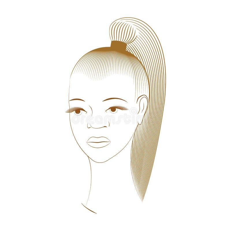 Härlig flicka från Afrika vektor illustrationer