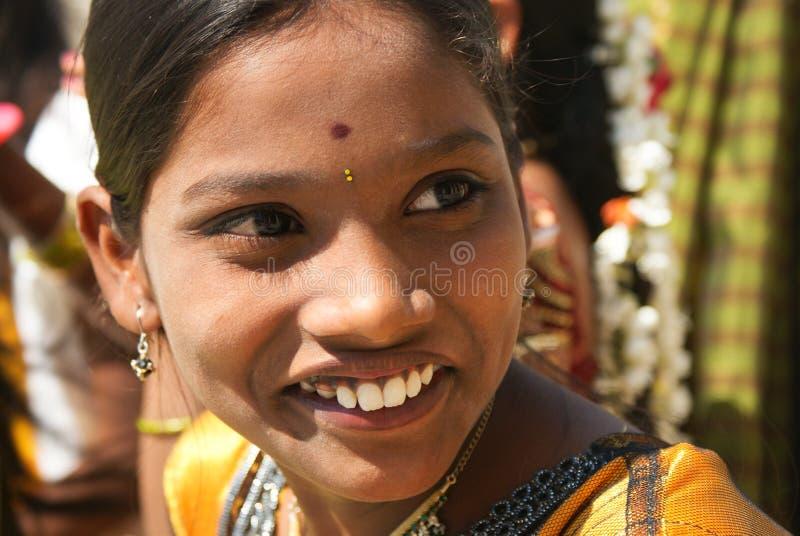 härlig flicka india arkivfoton