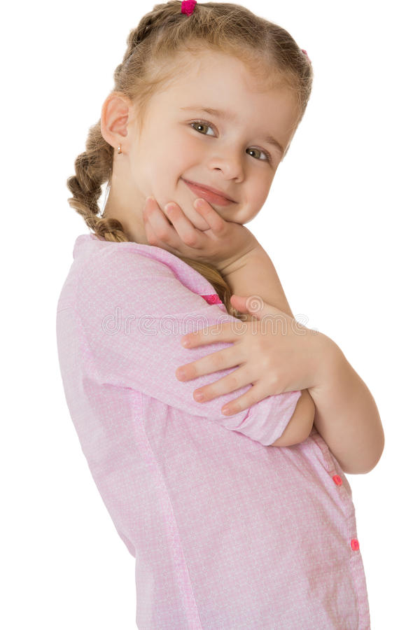 härlig flicka little royaltyfri bild