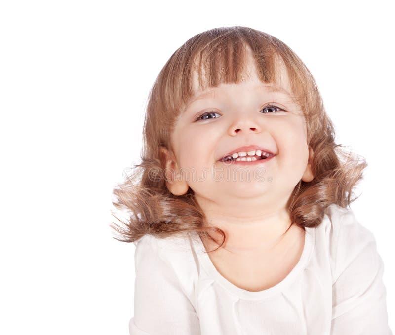 härlig flicka som isoleras little stående arkivbild