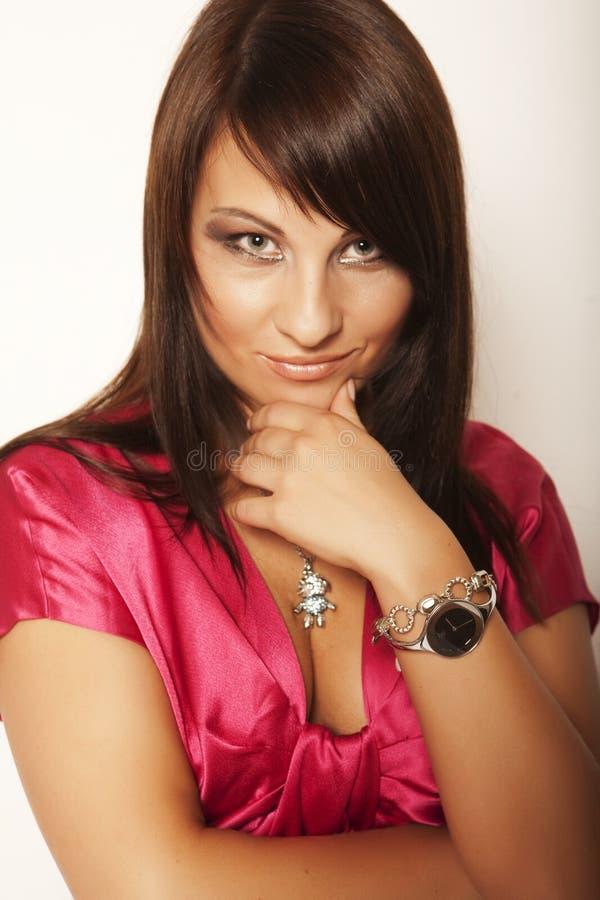 härlig flickaglamour royaltyfri fotografi
