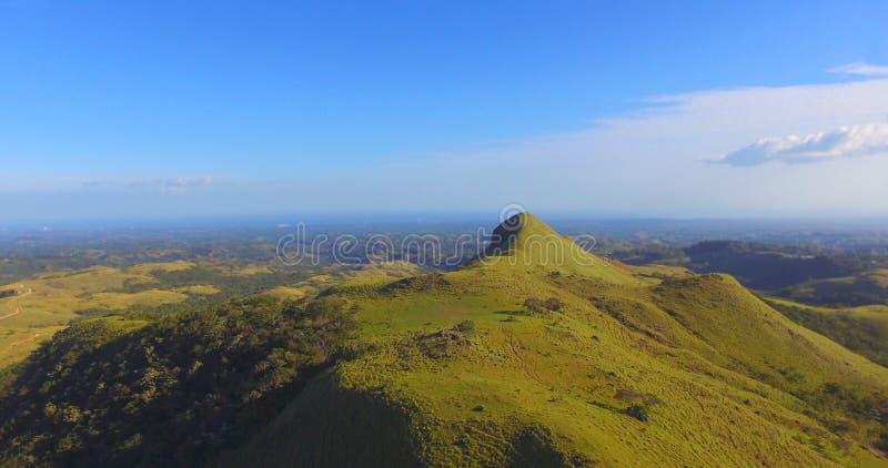 Härlig flyg- sikt av den centrala bergregionen av Panama royaltyfria foton