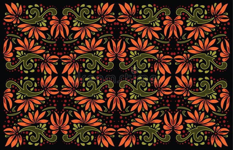Härlig folkkonst, blom- garnering vektor illustrationer