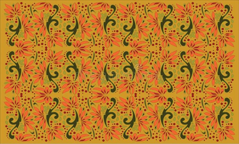 Härlig folkkonst, blom- garnering royaltyfri illustrationer