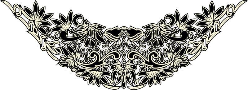 Härlig folkkonst, blom- garnering stock illustrationer