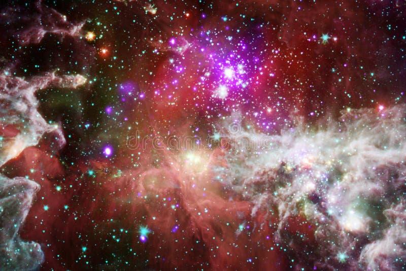 Härlig galax någonstans i yttre rymd Beståndsdelar av denna avbildar möblerat av NASA stock illustrationer