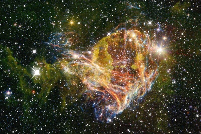 Härlig galax och klunga av stjärnor i utrymmenatten royaltyfri bild