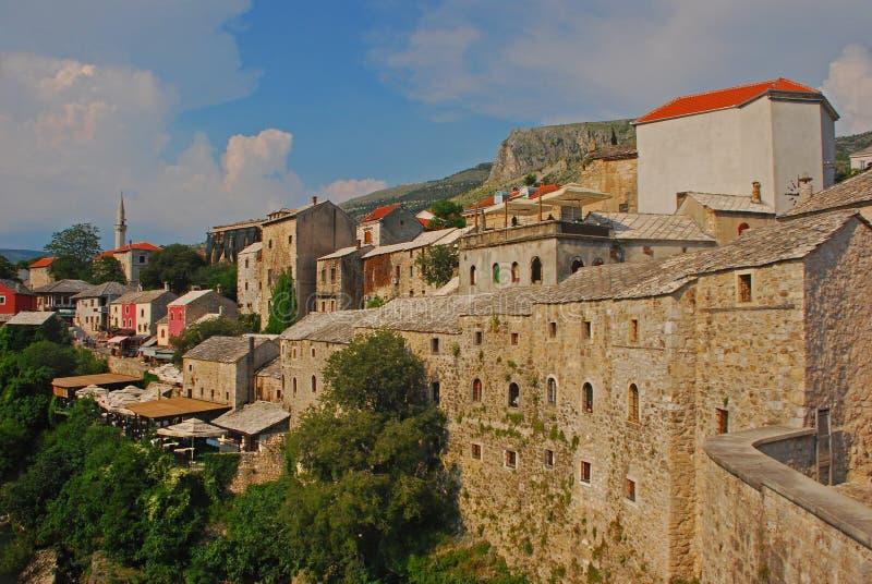 Härlig gammal stad av Mostar i Bosnien royaltyfria foton