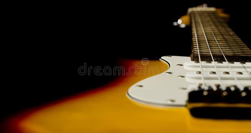 Härlig gitarr fotografering för bildbyråer