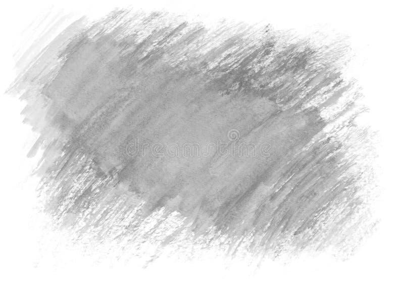 Härlig grå vattenfärgbakgrund på vitbok För texten texturer, baner, broschyrer, affischer, logo, design tecknad hand royaltyfri illustrationer