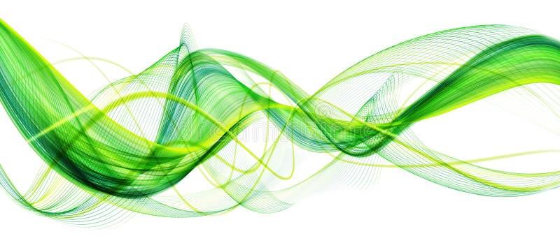 Härlig grön abstrakt modern vinkande affärsbakgrund stock illustrationer