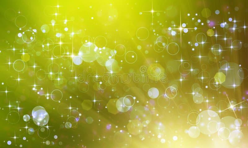 härlig grön festlig bakgrund royaltyfri illustrationer
