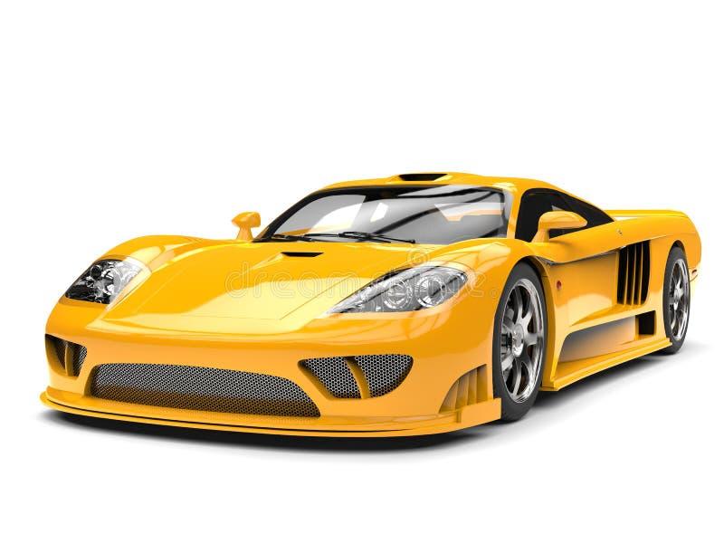 Härlig gul modern toppen racerbil vektor illustrationer