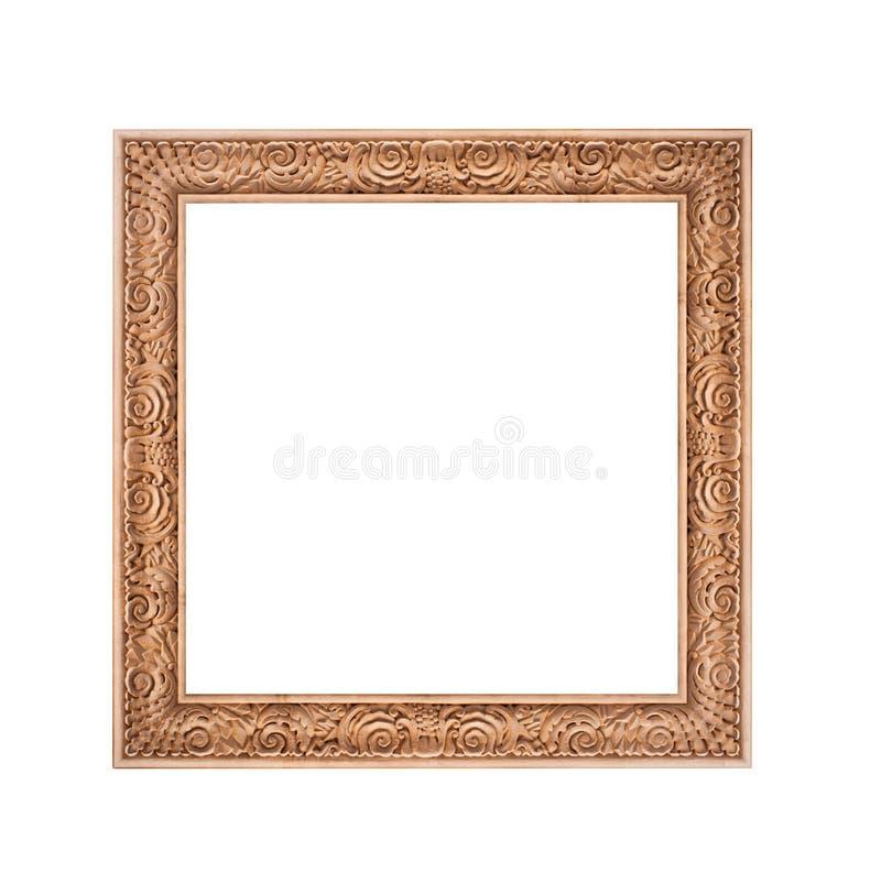 Härlig guld- ram som isoleras på vit bakgrund royaltyfri foto