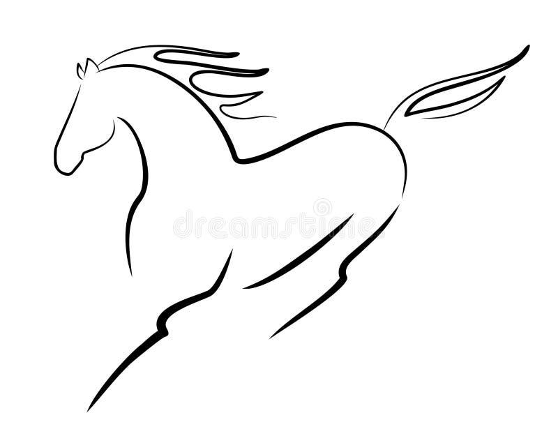 Härlig häst stock illustrationer