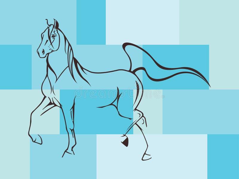 härlig häst vektor illustrationer
