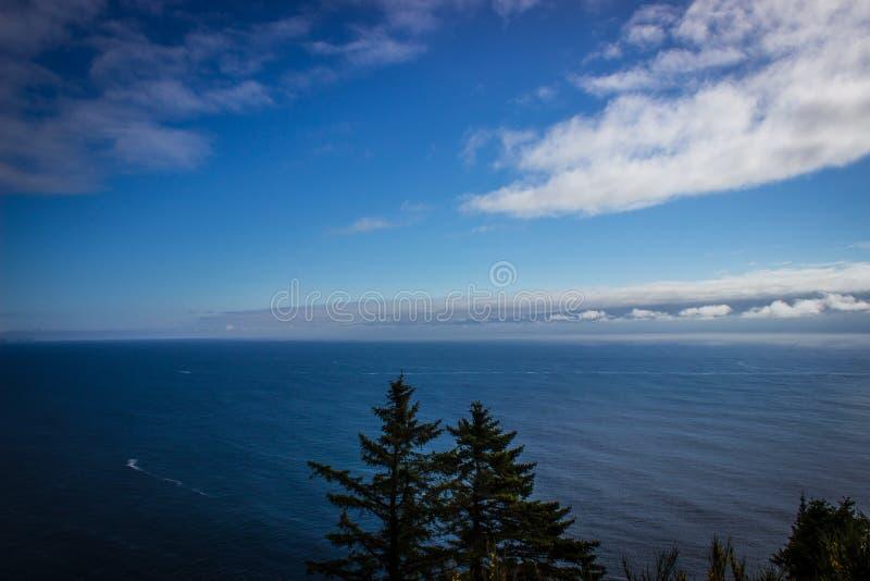 Härlig hög sikt av det Stillahavs- från den Oregon kusten royaltyfria bilder