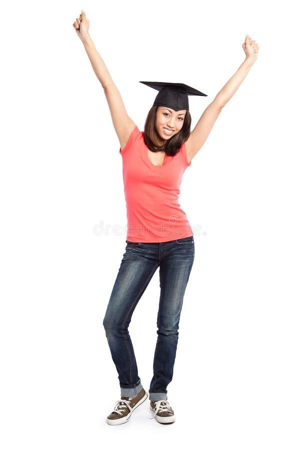 härlig högskolestudent royaltyfri bild