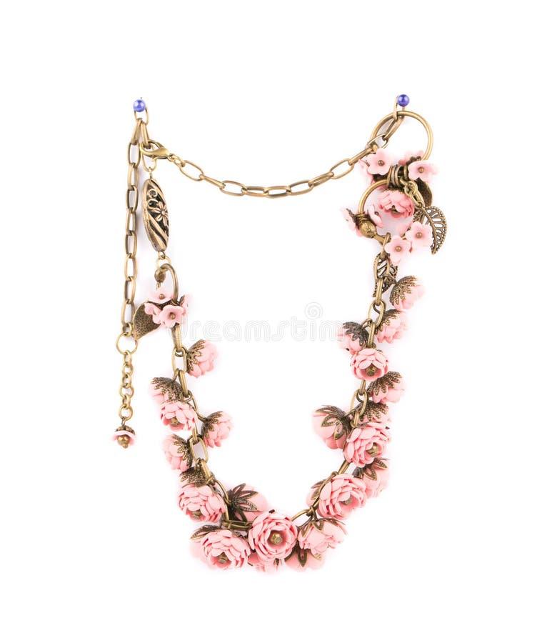 Härlig handgjord halsband royaltyfri bild
