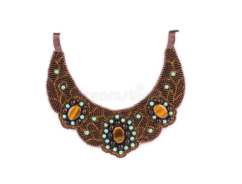 Härlig handgjord halsband arkivbild