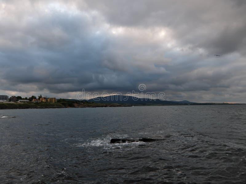Härlig havssikt i Ahtopol royaltyfri foto