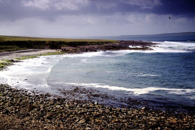 Härlig havssikt på John O'Groats royaltyfri foto