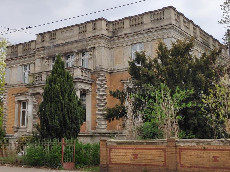 Härlig herrgård i Potsdam, Tyskland som kombinerar olika stilar arkivbilder