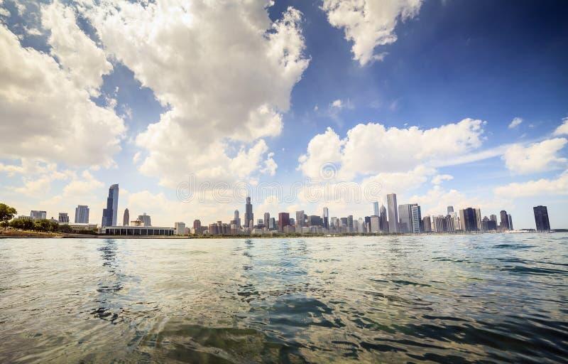 Härlig horisont av Chicago, Illinois royaltyfri foto