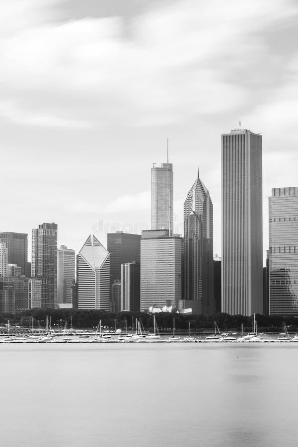 Härlig horisont av Chicago, Illinois arkivbilder