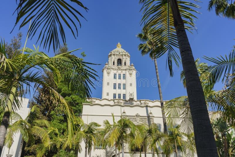 Härlig huvudbyggnad av det Beverly Hills stadshuset arkivbild