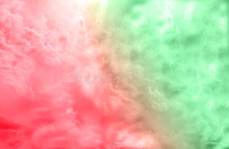 Härlig idérik dubbel röd och grön/abstrakt begreppbakgrund för färgbristning, royaltyfria foton