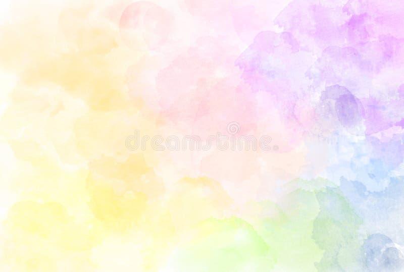 Härlig illustration för vattenfärgregnbågemodell Akvarell t stock illustrationer