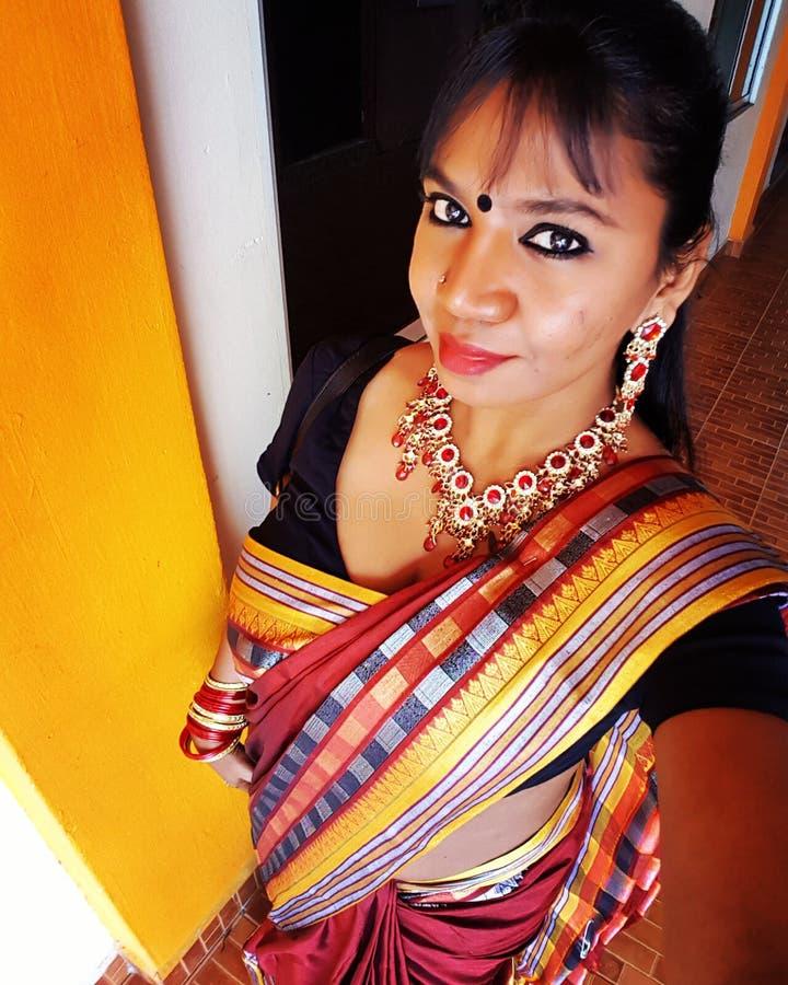 härlig indier royaltyfria foton