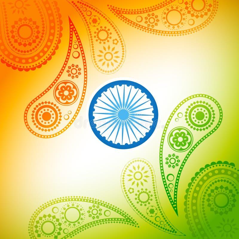 Härlig indisk flaggadesign royaltyfri illustrationer