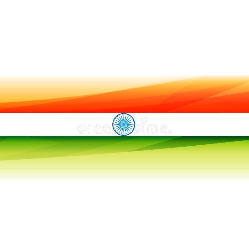 Härlig indisk illustration för design för flaggabakgrundsvektor royaltyfri illustrationer