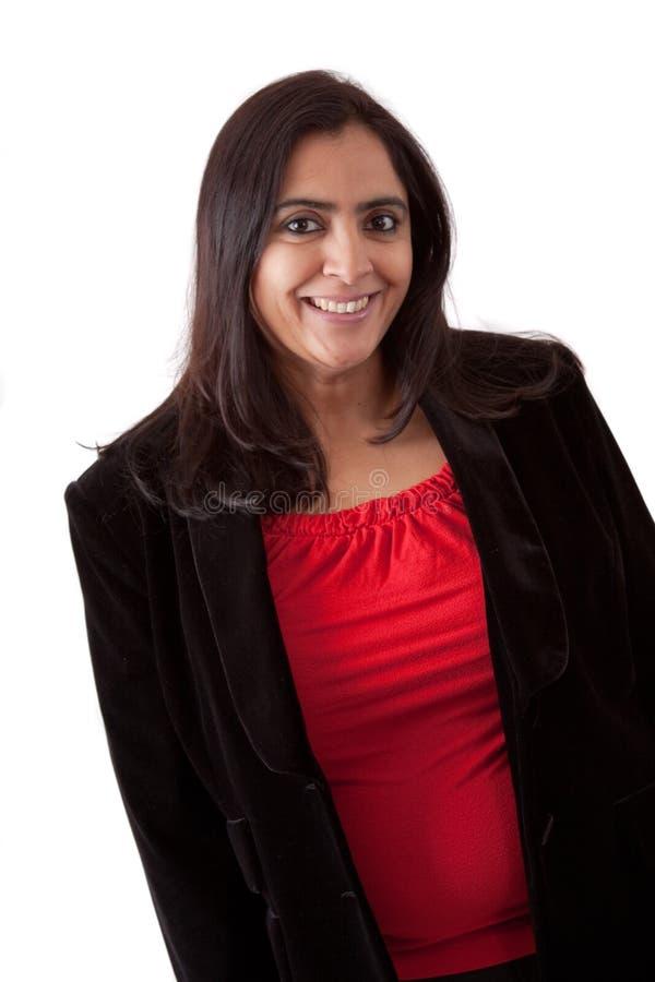 Härlig indisk kvinna i affärsdress fotografering för bildbyråer
