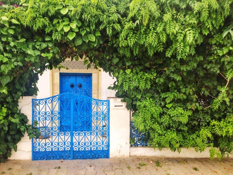 härlig ingång i Tunisien royaltyfria foton